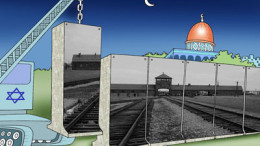 """International Holocaust Cartoon Competition Winner"" by Source (WP:NFCC#4). Licensed under Fair use via Wikipedia"