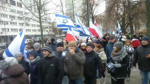 Marsz poparcia dla Izraela, 10.01.2016; fot. Paweł Czyszek