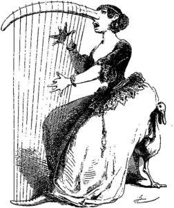 2.Karykatura szydząca z Żydówek prowadzących salony, w których spotykała się inteligencja w I połowie XIX wieku np. w Berlinie, 1851 rok.