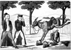 6.Wyśmiewanie Żyda, karykatura z Frankfurtu nad Menem, 1820 rok.