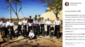 Lance Armstrong w Jerozolimie, fot. Lance Armstrong Instagram