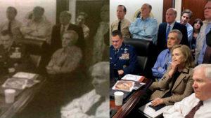 """Hillary Clinton została """"wymazana"""" przez ortodoksyjną gazetę ze zdjęcia zrobionego w pokoju sytuacyjnym Białego Domu, fot. Biuro Prasowe Białego Domu"""