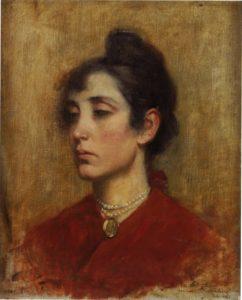 """Samuel Hirszenberg, """"Portret Pani Ettinger"""", 63,2x54,5 cm, ze zbiorów Muzeum Historii Judaizmu w Paryżu"""