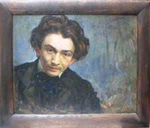 """Samuel Hirszenberg, """"Portret młodego mężczyzny"""", 1902, 216,5x313,3 cm ze zbiorów Muzeum Historii Judaizmu w Paryżu"""