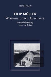"""""""W krematoriach Auschwitz"""" - okładka książki"""