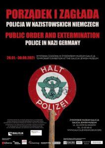 Niemiecka policja - plakat wystawy w Muzeum Galicja w Krakowie